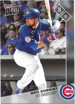 2017 Cubs Topps Now Road To Opening Day Zobrist