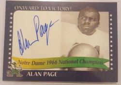 2003  NOTRE DAME LEGACY Alan Page