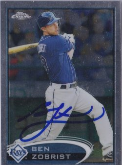 2012 Topps Chrome Ben Zobrist IP Auto