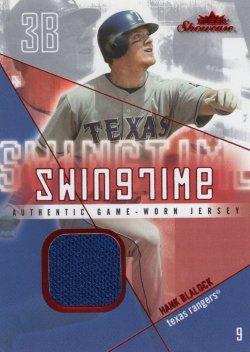 Hank Blalock 2005 Fleer Showcase Swingtime Jersey