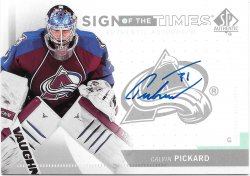2013-14 Upper Deck SP Authentic Sign of the Times Calvin Pickard