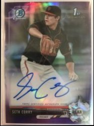 2017 Bowman Chrome Draft Purple Refractor Seth Corry