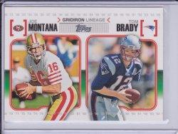 Tom Brady and Joe Montana 2010 Topps Gridiron Lineage