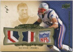 2008 Upper Deck Premier Rare Patches Triple 1/1 Ver. Mike Vrabel