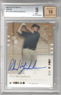 2002 Upper Deck SP Authentic Phil Mickelson Limited Rookie Autograph