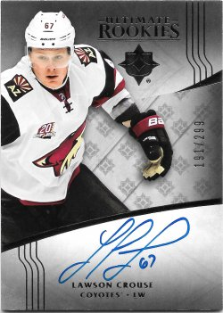 2016-17 Upper Deck Ultimate Collection Rookie Autographs Lawson Crouse