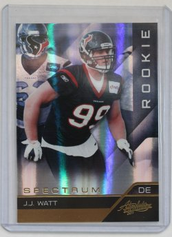 2011 Panini Absolute Memorabilia J.J. Watt RC Spectrum