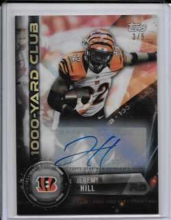 2015 Topps Chrome All Time 1000 Yard Club Autograph - Jeremy Hill