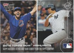 2016 Topps Now Holiday Card