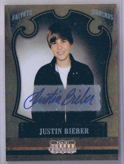 2012 Panini Americana Justin Bieber Autograph
