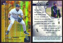 1999  Finest GEMS Gold Refractor Frank Thomas