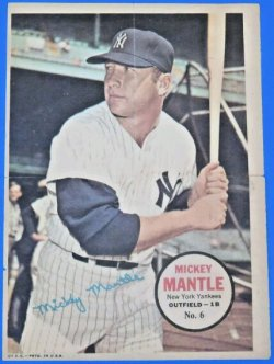 Topps Poster Mickey Mantle