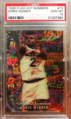 1995-96  Flair Hot Numbers Chris Webber