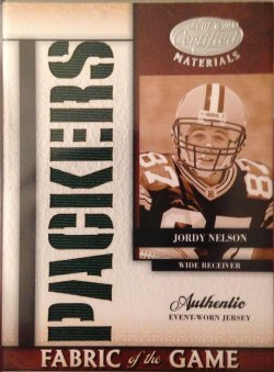 2008 Donruss Leaf Certified Materials Fabric of the Game Team Die Cut Jordy Nelson RC