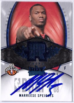 2008-09 Fleer Hot Prospects Blue Marreese Speights RC IP Auto