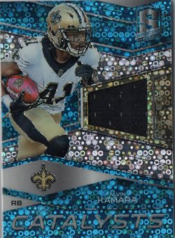 2018 Panini Spectra Catalysts Jerseys Neon Blue Alvin Kamara/99