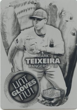 2006 Fleer Flair Showcase Mark Teixeira Hot Glove Printing Plate Black