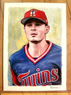 2018 Topps Gallery Max Kepler Original Artwork
