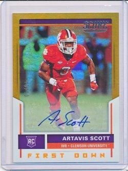 Artavis Scott 2017 Score Rookie Autographs First Down /10