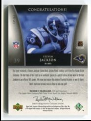 2005 Upper Deck Exquisite Collection Steven Jackson Holofoil Back