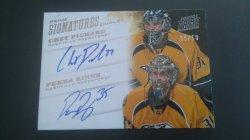 2013-14 Panini Prime 2012-13 Prime Signatures Dual #18 Chet Pickard, Pekka Rinne