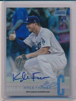 Kyle Farmer 2018 Stadium Club Autographs Rainbow Foil /10