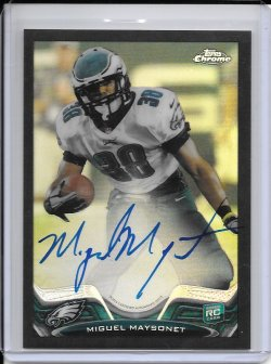 2013 Topps Chrome Black Refractor Rookie Autograph - Miguel Maysonet