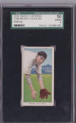 1909  T206 Sweet Caporal Mickey Doolan