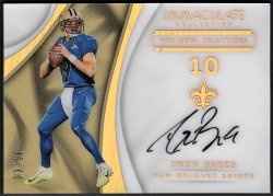 2017    Drew Brees Immaculate Pro Bowl Selections Auto #3/10