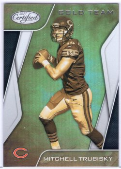 2017 Panini Certified Mitchell Trubisky Gold Team