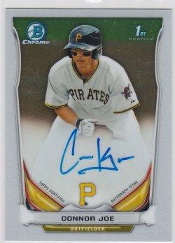 2014 Connor Joe Bowman Chrome  On-Card Auto RC   Pirates B2482
