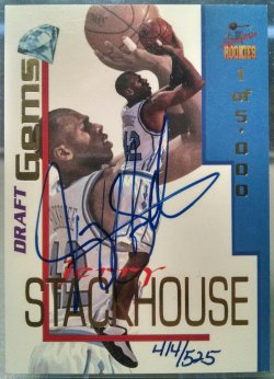 1995  Signature Rookies Draft Day Jerry Stackhouse draft gems autograph