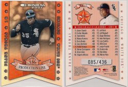 2001   Donruss Production Line Die Cuts Frank Thomas