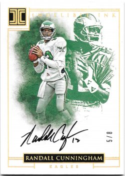 2016 Panini Impeccable Indelible Ink Gold Randall Cunningham
