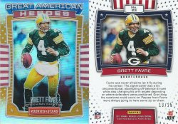 2017  Rookies & Stars Great American Heroes Orange #23 Brett Favre