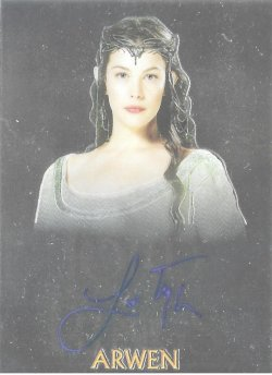 2004 Topps Lord of the Rings Trilogy Chrome Autographs Liv Tyler