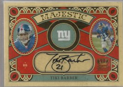 2010 Panini Crown Royale Tiki Barber Majestic Autographs