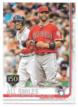 2019 Topps Topps 150th Anniversary Mookie Betts and Albert Pujols (All Smiles - Checklist 145-180)