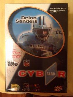 1996 Topps Cybrcard CD-Rom Trading Card Deion Sanders #6
