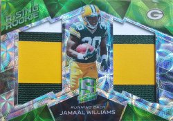 2017 Panini Spectra Jamaal Williams Dual Patch Green
