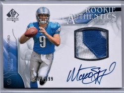 2009 Upper Deck SP Authentic Matthew Stafford