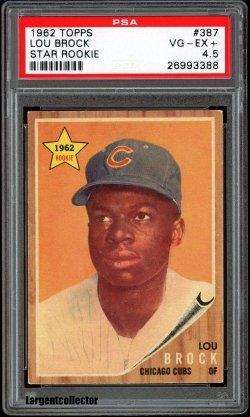 1962 Topps Star Rookie Lou Brock