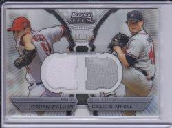Craig Kimbrel and Jordan Walden 2011 Bowman Sterling Dual Relics /196