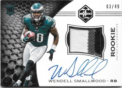 2016 Panini Limited Silver Spotlight Rookie Patch Autographs Wendell Smallwood