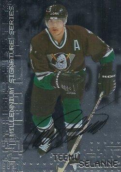 1999/00  Be A Player Millennium Autographs Selanne