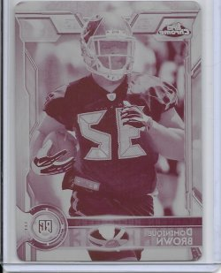 2015 Topps Chrome Magenta Printing Plate - Dominique Brown