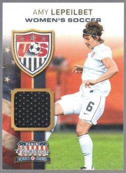 2012 Panini American US Womens Soccer Team Materials Amy Lepeilbet