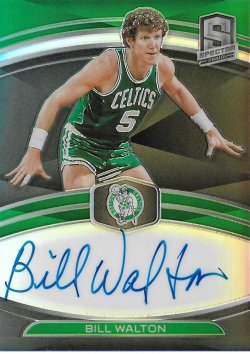2019-20 Panini Spectra NBA Champions Signatures Bill Walton #ed 43/49