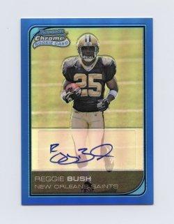 2006 Bowman Chrome Rookie Autographs Blue Refractors #223 Reggie Bush/75