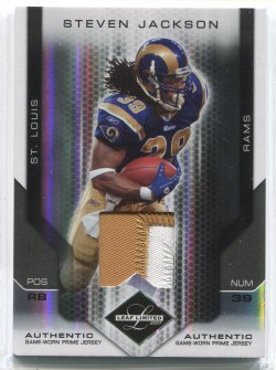 2007 Leaf Limited Steven Jackson Patches